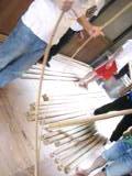 1日目-脇竹を割る
