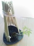 豆盆栽の日射しよけ